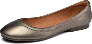 CZZPTC Women's Ballet Flats Lambskin Loafers Classic Round Toe Casual Ladies Leather Flat Shoes for Women Girl