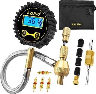 Desinflador de pneus digital AZUNO com manômetro de pressão Kit de reparo off-road com acessórios otimizados