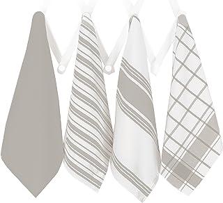 All Clad Textiles - Juego de Toallas (4 Piezas, algodón), Color café, Titanio, 1, 4