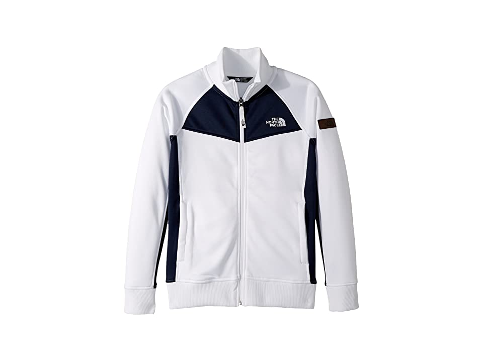 The North Face Kids Take Back Track Jacket (Little Kids/Big Kids) (TNF White/Urban Navy (Prior Season)) Girl