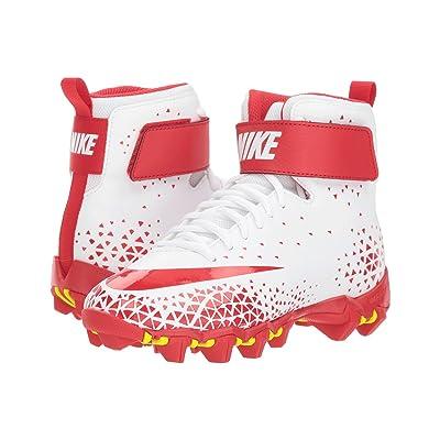 Nike Kids Force Savage Shark Football (Toddler/Little Kid/Big Kid) (White/University Red/University Red) Boys Shoes
