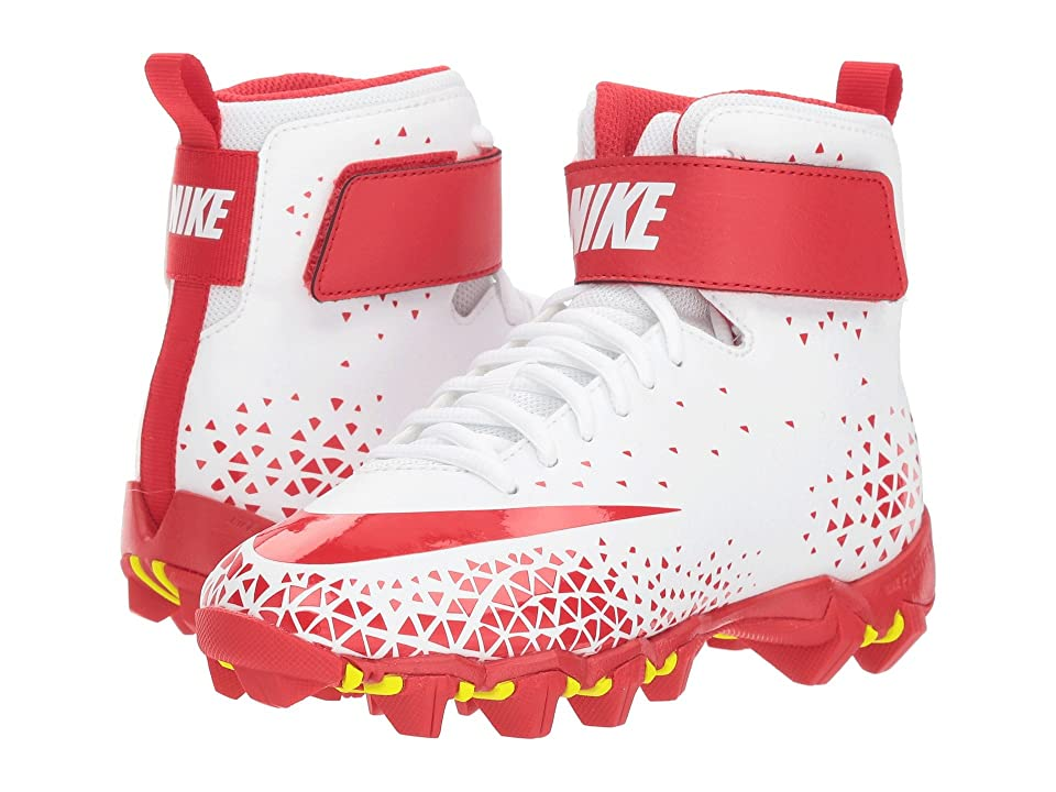 Nike Kids Force Savage Shark Football (Toddler/Little Kid/Big Kid) (White/University Red/University Red) Boys Shoes