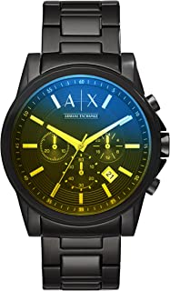 armani exchange stainless steel watch ax2155