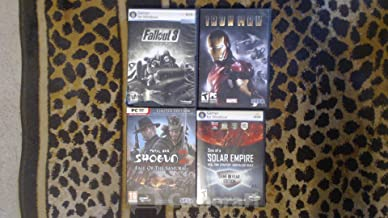 4 PC GAMES IN ORIGINAL BOXES - FALLOUT 3, IRON MAN, TOTAL WAR SHOGUN 2 FALL OF THE SAMURAI, SINS OF A SOLAR EMPIRE