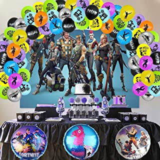 Fotohintergrund für Jungen, Motiv: Gemten Battle Royale, für Videospiele, Party Fotohintergrund, Videospiel Fans, Dekoration, Kinderparty Banner, Foto Requisiten (210 x 150 cm)
