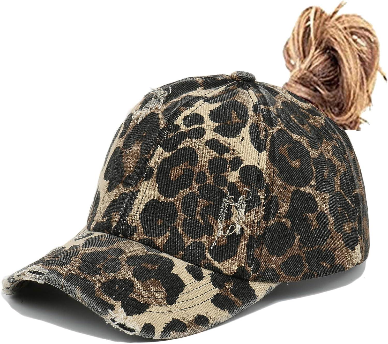 JIAHUA Bad Hair Day Women's Adjustable Ponytail Cap Washed Baseball Cap