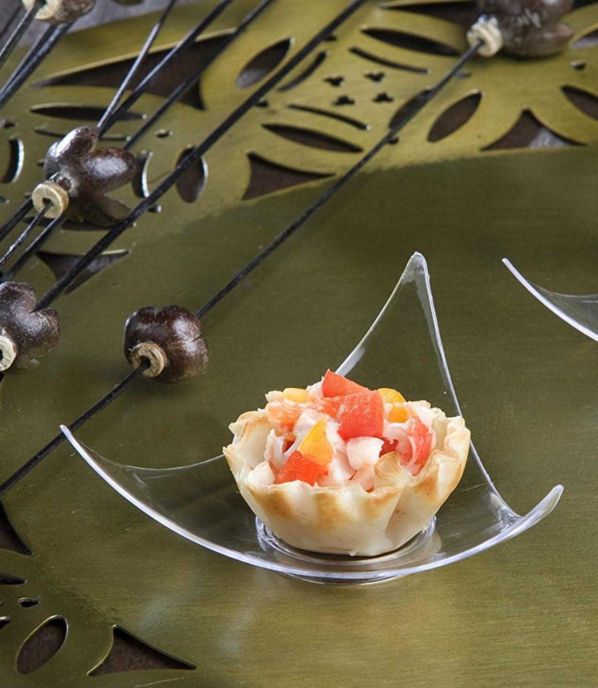 北唯物論スイング100クリアプラスチックMini Triangle Dessert Plates 100?Shooting Star Mini AppetizerプレートSmallカクテルパーティー寿司プレートPie Tastingプレートサンプルプレート