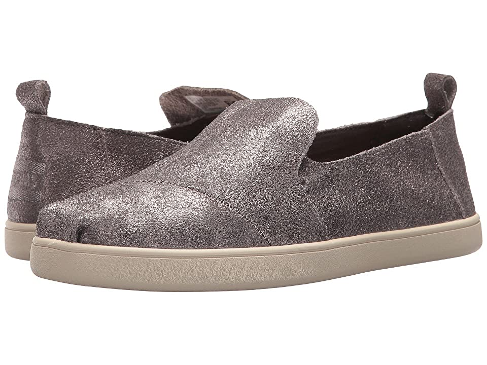 TOMS Deconstructed Alpargata (Pewter Metallic Leather) Women