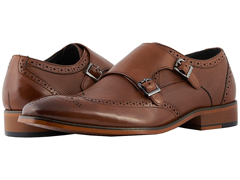 Stacy Adams Lavine Wingtip Double Monkstrap (Saddle Tan) Men