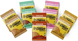 Honey Stinger Gluten Free Organic Waffles -Variety Pack – 10 Count-2 of Each Flavor- Energy Source for Any Activity – Vanilla & Chocolate, Wildflower Honey, Chocolate Mint, Salted Caramel & Cinnamon