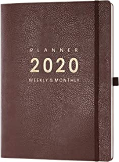 """2020 Planner with Pen Holder – 8.5"""" x 11"""" Weekly & Monthly Planner.."""
