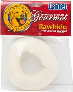Cadet Rawhide Dog Treat Donut; 3-4