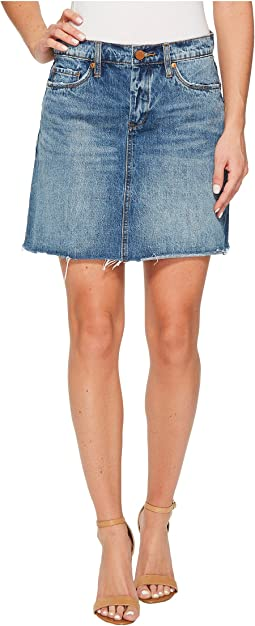 Denim A-Line Mini Skirt in Way Back When