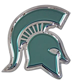 Chrome Domz NCAA Michigan State Spartans Mens Michigan State - Spartan Helmet (Large) Michigan State - Spartan Helmet Chrome Sign, Made from 100% Stainless Steel, Large