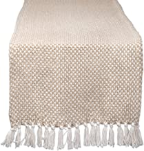 DII CAMZ11276 Braided Farmhouse Woven Table Runner, 15 x 72 inches, Stone