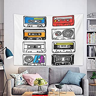 """Remain Unique Tapestry Reggae is Rhythm of My Soul Hand Written Lettering Wall Hang Decor Indoor House Made in Soft 59.1""""x..."""