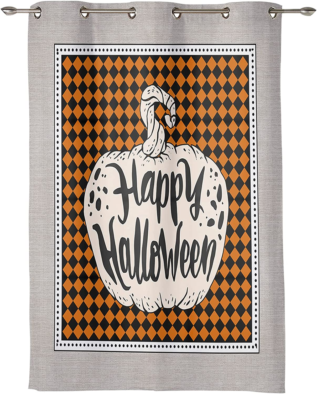 Window Curtain Luxury goods Panel Happy Halloween Printing Drap Durable store Decor