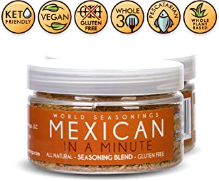 Mexican Seasoning Blend - Tex Mex Seasoning - Mexican Spice Blend - Taco Spices - Fajita Mix - Chicken Burgers - Fish Taco Seasoning Powder - Burrito Seasoning Mix - Spicy Salsa - MEXICAN IN A MINUTE