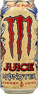 Juice Monster Energy, Pacific Punch, 16 Ounce Cans (Pack of 24)