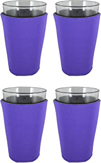 Blank Foam Pint Glass Coolie(s), Collapsible Bottom (4, Purple)