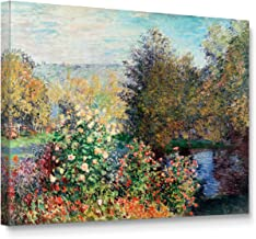 Niwo ART (TM) - Corner of the Garden at Montgeron, by Claude Monet, Oil painting Reproduction - Giclee Wall Art for Home Decor, Gallery Wrapped, Stretched, Framed Ready to Hang (24