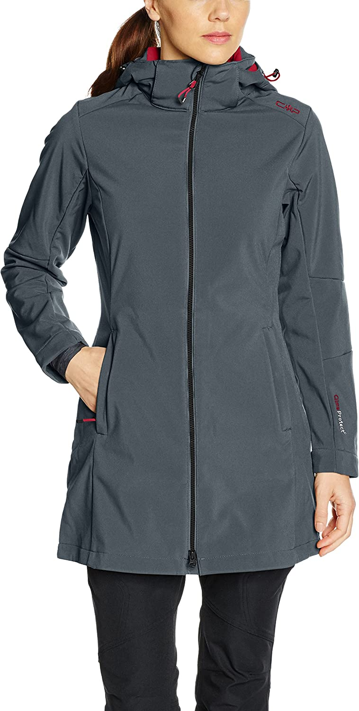 (36 (EU), Asphalt Magenta)  CMP Women's Softshell Mantel Jacket