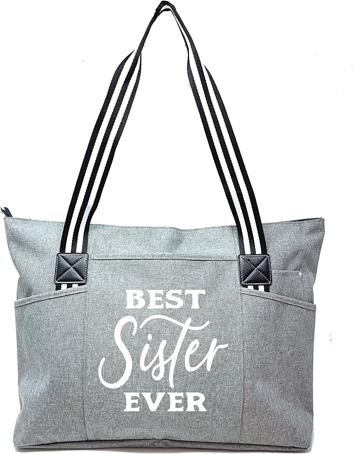 Gifts Miami Mall for Sister - Cute Zippered fo with Pockets Regular store Bag Canvas Tote