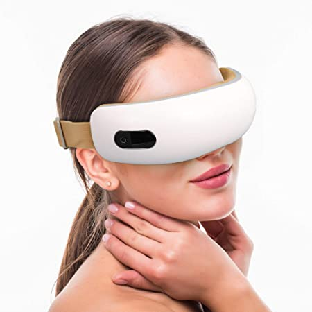 Amazon.com : Eye Massager with Heat Electric Air Pressure for Relieve Eye  Strain Portable Vibration Wireless Music Rechargeable Eye Therapy Massager  : Beauty