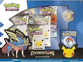 Pokémon USA, Inc. | Pokemon TCG: Feesten Deluxe Pin Box (25e jaar) | Kaartspel | Leeftijd 14+ | 2 Spelers | 20+ Minuten Sp...