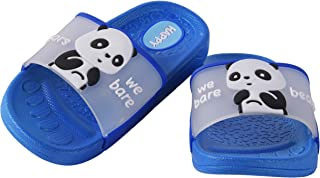 Yellow Bee Panda Slippers for Boys, Blue