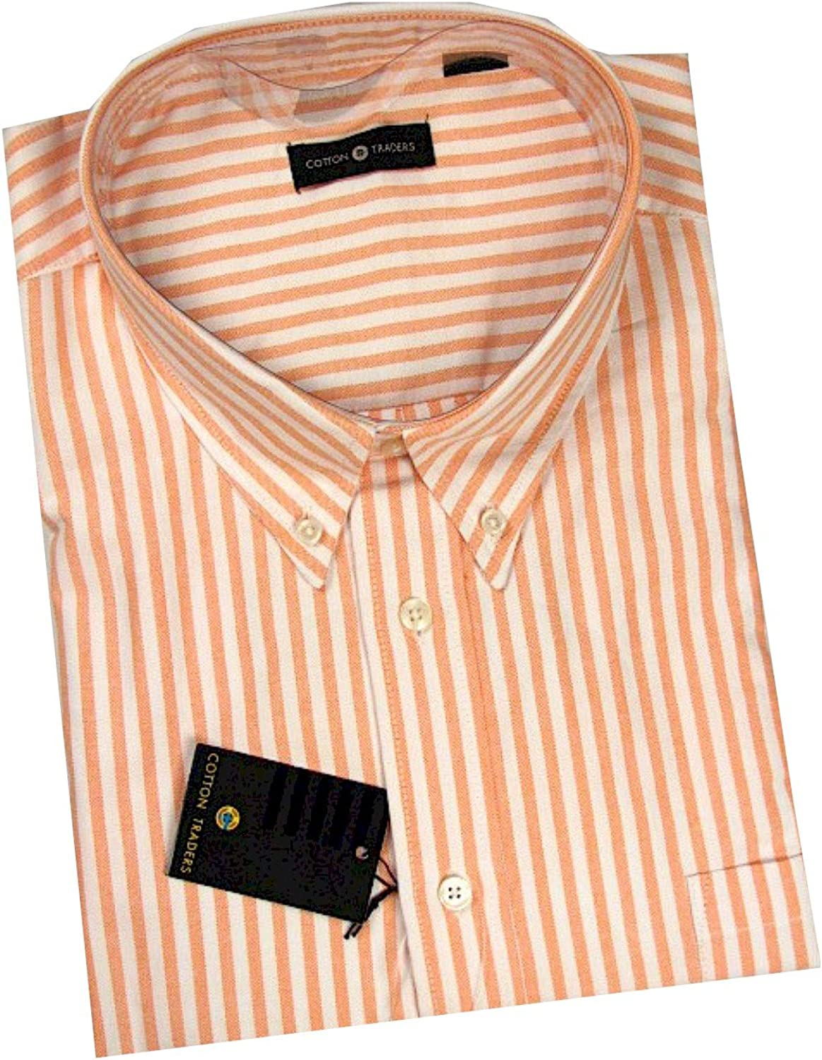 Cotton Traders Big and Tall All Cotton Short Sleeve Oxford Shirt