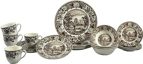 Claytan SILVERDALE 20PC DINNER SET BELMONT BROWN (1603RS201)