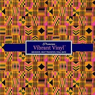 African Print HTV, African Print Vinyl, Kente Vinyl, Print Vinyl, Pattern Vinyl, Black History Month, Kente HTV, Pink Kente (12 x 12)