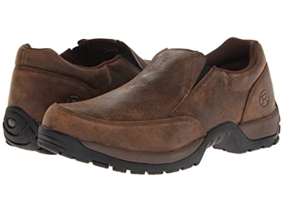 Roper Performance Slip On w/ Rider Button (Brown) Men