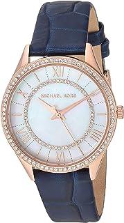 Michael Kors MK2757 Reloj para Mujer, Correa Piel Azul, Caratula Madre Perla, Análogo