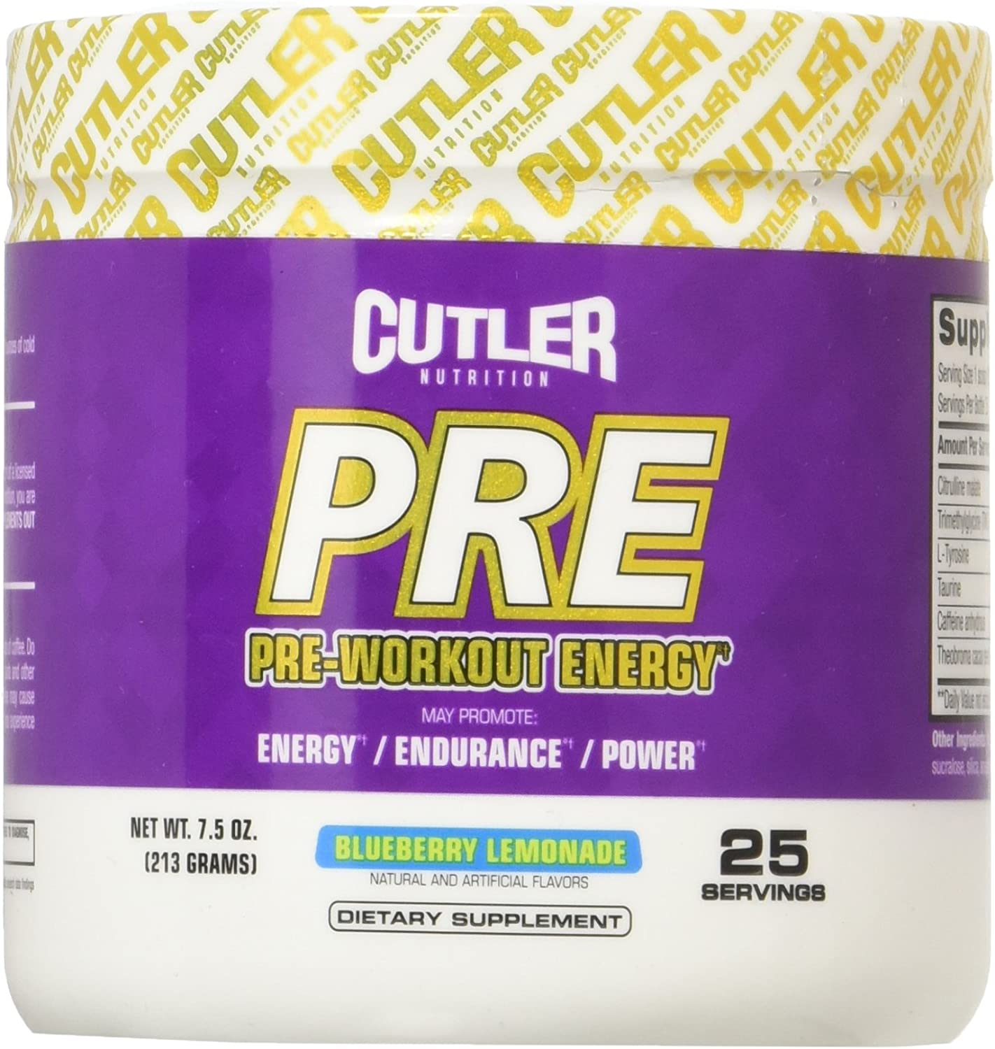 Cutler Nutrition Pre-Workout Energy Blueberry Powder Classic Low price Lemonade
