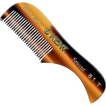 """Kent A 81T (2.8"""") Pocket Comb & Beard Comb for Mustache and Beard - Travel Kit Beard Comb for Grooming/Beard Care - Fine Tooth Comb Mustache Comb Kent Comb for Mustache Kit Beard Grooming Styling Comb"""