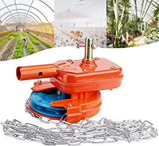 DFGENLY Greenhouse Manual Roll Up Ventilation Equipment, Side Top Film Chain Coiler Device for Agriculture Breeding Plant,