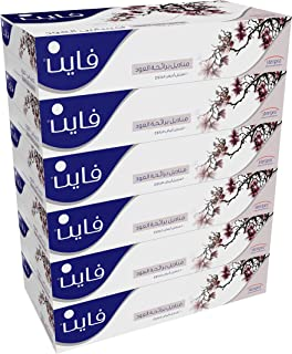 FINE Facial Tissues Oud 100x2 Ply White Tissues/ 6 Pack