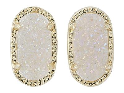 Kendra Scott Ellie Earring (Gold Iridescent Drusy) Earring