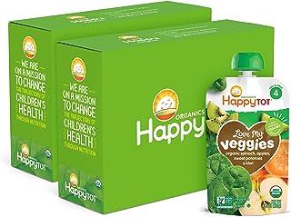Happy Tot Organics Love My Veggies Stage 4, Organics Spinach Apple Sweet Potato & Kiwi, 4.22 Ounce Pouch (Pack of 16) (Pac...
