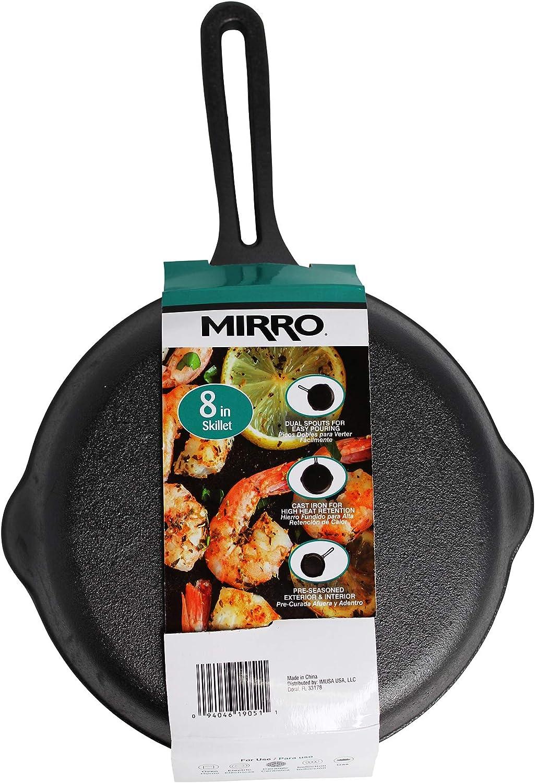 6 Inch Black Mirro Pre-Seasoned Mini Round Cast Iron Skillet