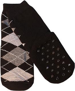 Weri Spezials, Niños ABS calcetín frotee de suela romben Diseño en negro negro