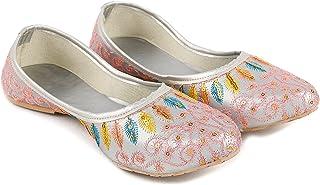 Yo Jaipuri Comfortable Women's Daily Party Office Wear Rajasthani Mojari-Jutti Shoe Belly - Multi Color Embroidered