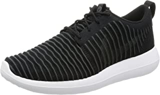 Nike Roshe Two Flyknit Mens Running Trainers 844833 Sneakers Shoes (US 10.5, Black Dark Grey White Volt 001)