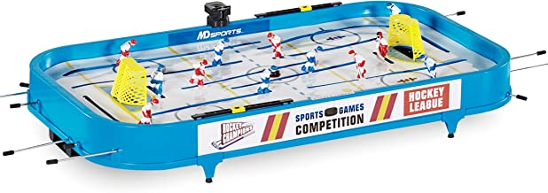 """MD Sports Rod Hockey Table Game, 36"""", Lightweight Table Top -Stick Hockey with 2 Pucks - Fun, Portable Arcade Games and Accessories for Kids and Adults"""