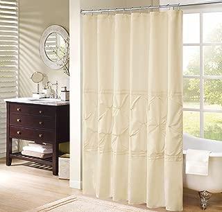 Comfort Spaces Cavoy Bathroom Shower Tufted Ruffle Pattern Modern Elegant Microfiber Fabric Bath Curtains, 72