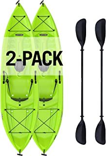 Lifetime Tioga Sit-On-Top Kayak with Paddle (2 Pack), Lime, 120