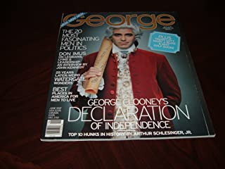 George Magazine, June 1997-George Clooney as Thomas Jefferson on cover. The top 10 hunks in history & The 20 most fascinating men in politics.