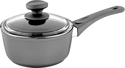 Saflon Titanium Nonstick 1.5 Quart Sauce Pan with Glass Lid Forged Aluminum with PFOA Free Coating